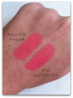 Mac Viva Glam Nicki vs Wet n Wild Pinkerbell