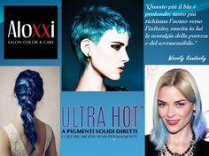 Ma quanto sono stupendi i toni del blu? Su tutta la testa o solo su una ciocca, fallo splendere sui tuoi capelli con Ultra Hot by AloXXi. Perché Ultra Hot non è un colore, è moda per i tuoi capelli!