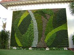 Living Wall Vertical Garden: Living Vertical Garden - At Worth Ave Redo Plantador Vertical, Vertical Garden Design, Vertical Planter, Vertical Gardens, Vertical Farming, Mini Gardens, Small Gardens, Decoration Facade, Jardin Vertical Artificial