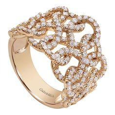 one incredible 14k pink gold lusso diamond ring