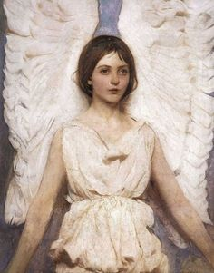 "American Artist Abbott Handerson Thayer 1849-1921  ""Angel"" (saw this one at the Smithsonian and was awed by its beauty)"