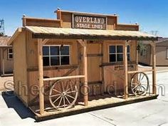 Old West Saloon Style Sheds