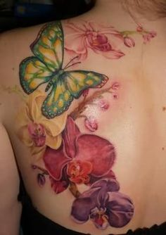 orchid tatoos on ankle | Tattoo On Foot - Free Download Awesome Orchid Flower Tattoo On Foot ...
