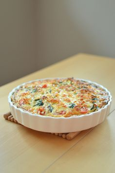 Scandi Home: Vegetarian Quiche - This is the most delicious quiche I have ever had. I used kasseri cheese instead of the halloumi that it calls for, but the veggies are what makes it so good.