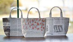 新聞バッグ もじゃぐりバッグ