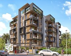 Visualization is expert in architectural rendering, walkthrough, architecural visualization, animation, interior design and realistic rendering Building Elevation, Building Facade, Building Exterior, Duplex House Design, House Front Design, Residential Building Design, Residential Architecture, Modern Exterior House Designs, Exterior Design