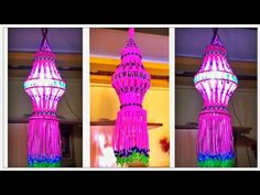 DIY Aakash Kandil For Diwali | Macrame akash Kandil - YouTube