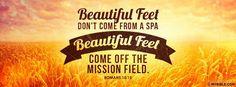 Romans 10:15 NKJV - Beautiful Feet Share The Gospel. - Facebook Cover Photo