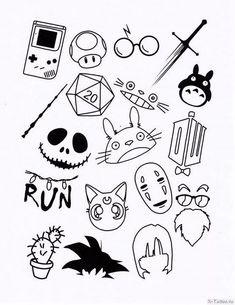 Flash Art Tattoos, Body Art Tattoos, Hand Tattoos, Small Tattoos, Cool Tattoos, Sleeve Tattoos, White Tattoos, Tattoo Black, Kritzelei Tattoo