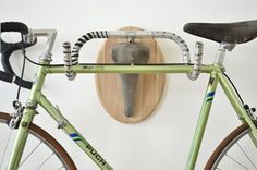Upcycle bicycle hanger