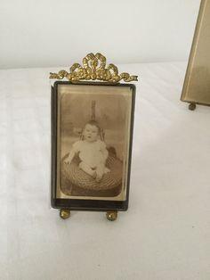 Small antique frame, brass, 19th century de la boutique VintagedeFrance sur Etsy