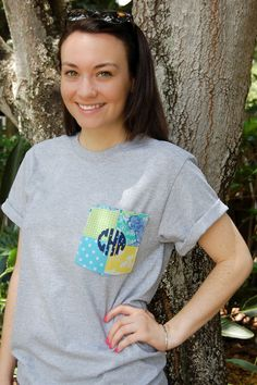 College Prep: DIY Monogrammed T-Shirt...i think ill try with only one backing fabric but a cute idea!!