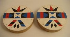 "A PAIR OF 1960`s INLAID ZULU EARPLUGS ""IZIQHAZA"", (South Africa). 7cm Ref. ""African Arts Magazine"", Spring 1997, Vol. XXX, No. 2. Art and Am..."