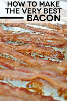 The easiest way to make bacon - in the oven! So simple and tastes fabulous. ALSO, did you know that running your bacon under cold water before cooking will reduce its shrinking by Breakfast Dishes, Eat Breakfast, Breakfast Recipes, Pork Recipes, Cooking Recipes, Cooking Ideas, Crockpot Recipes, Slow Cooker Corn Chowder, Great Recipes