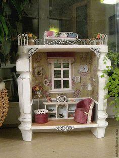 Кукольный дом ручной работы. Ярмарка Мастеров - ручная работа. Купить кукольная миниатюра 1:12. Handmade. Белый, кукольная мебель