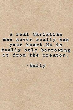 A real Christian man...