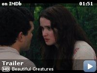 Beautiful Creatures -- A supernatural love story set in the South and centered on Ethan, a teenager longing to escape his small town, and Lena, the mysterious new girl. Together, they uncover dark secrets about their respective families, their history and their town.
