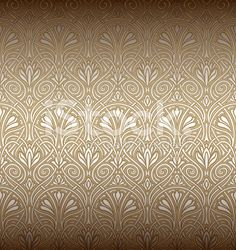 Seamless pattern in stile Art Nouveau royalty-free stock vector art