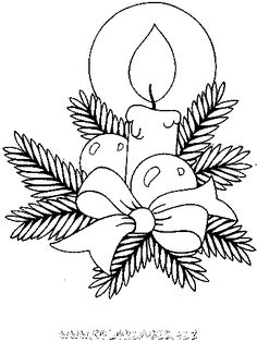 Christmas Coloring Pages - Candle Christmas Card Crafts, Christmas Drawing, Christmas Templates, Christmas Paintings, Christmas Images, Christmas Colors, Christmas Art, Christmas Decorations, Christmas Candles