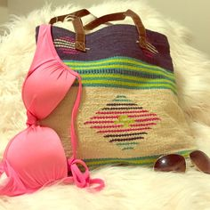 Mossimo Printed Beach Tote Gently used. In great shape. Mossimo Supply Co Bags Totes