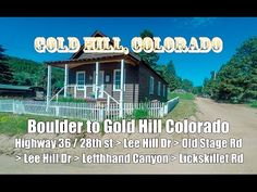 Gold Hill, Colorado: Drive from Boulder