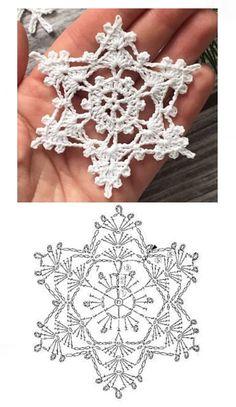 Free Crochet Doily Patterns, Crochet Snowflake Pattern, Crochet Symbols, Crochet Stars, Christmas Crochet Patterns, Holiday Crochet, Crochet Snowflakes, Crochet Animal Patterns, Christmas Knitting