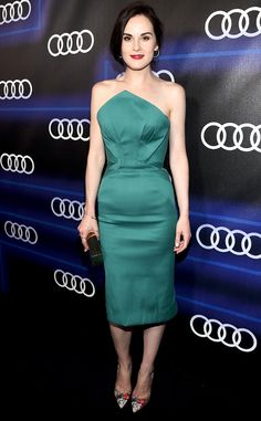 Michelle Dockery from Best Looks of the Week  Go ahead and color us green, because we're totally envious of the actress' emerald dress.