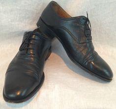 Magnanni Cap Toe Oxford Black Leather Lace Up Dress Shoes ~ US Size 13M #Magnanni #Oxfords