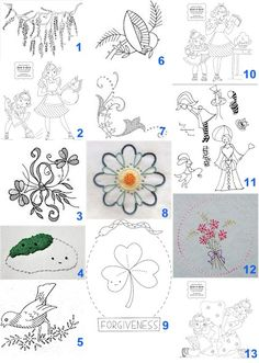 free hand stitching patterns | Hand Embroidery Patterns – Needle'nThread.com
