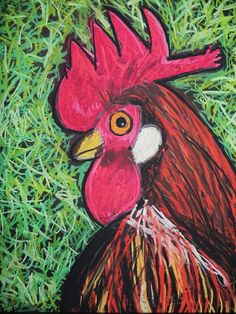 rodeo art ideas | Bought a photo book with all kinds of great pictures of Roosters and ...