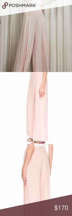 """C/MEO COLLECTIVE Pleated Wide Leg Blush Pants New with tags! Excellent condition. SOLD OUT EVERYWHERE. Small pleats add ethereal volume to the high-waisted, wide-leg silhouette of these trend-right pants in the softest shade of ballet pink. 33"""" inseam; 33"""" leg opening; 12 1/2"""" front rise; 16"""" back rise (size Medium). Hidden back-zip closure. 100% viscose. By C/MEO Collective C/MEO Collective Pants Wide Leg"""