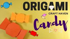 Easy Origami Candy Tutorial for Beginners - How To Make Paper Candy - DI...
