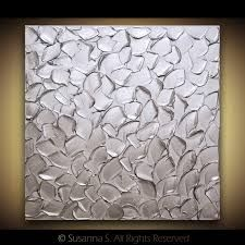 silver canvas art - Google Search