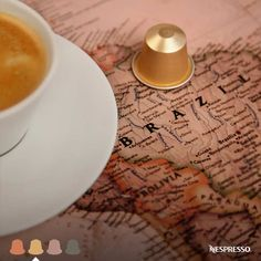Nespresso Dulsao Do Brasil | A voyage so smooth, you'll consider traveling every morning. Its satiny smooth, elegantly balanced flavor is enhanced with a note of delicately toasted grain.