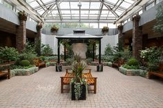 Assiniboine Park Conservatory indoor wedding ceremony and reception venue in Winnipeg, Manitoba Indoor Wedding Ceremonies, Wedding Ceremony, Wedding Venues, Reception, Mom Dad Anniversary, Anniversary Parties, Wedding Spot, Dream Wedding, Wedding Stuff