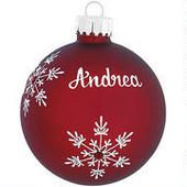 Personalized Birthstone Glass Ornament from Bronner's Christmas Wonderland