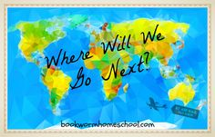 Traveling the world from the comfort of home www.bookwormhomeschool.com