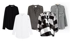"""""""monochrome shirt"""" by wilypr on Polyvore featuring Uniqlo, Velvet and River Island"""