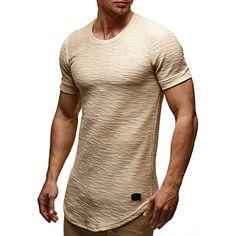 f3f1bafb77d LEIF NELSON pour des Hommes Oversize T-Shirt Hoodie Sweatshirt col Rond  Encolure Manche Courte