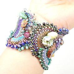 Reserved for Joanne Femme Fatale Bracelet-Blue by MariYunJewelry