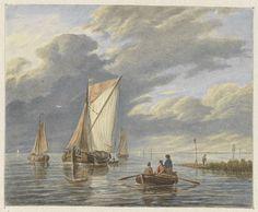 Bootjes op het water, Matthijs Maris, Hermanus Koekkoek (I), 1849 - 1917