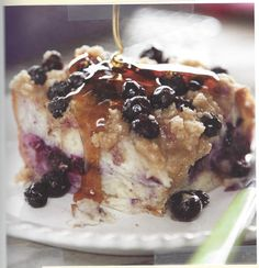 Blueberry Streusel French Toast Recipe by Debra Ponzek