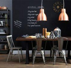 Κουζίνα με μαυροπίνακα