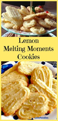 why not make some kitsch traditional food as gifts or teatime treats in your vintage style this christmas kitschy girls and boys Lemon Melting Moments Cookies - A wonderful gentle lemon flavor with a melting sensation! Lemon Desserts, Lemon Recipes, Cookie Desserts, Sweet Recipes, Cookie Recipes, Dessert Recipes, Melting Moments Cookies, Cookie Sandwich, Food Porn