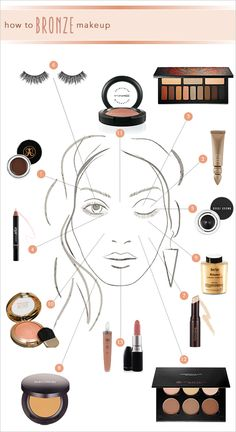DIY bronzed bridal look with step by step directions and full product list. #tutorial #bronzedlook #weddingchicks ---> http://www.weddingchicks.com/2014/05/05/how-to-bronze-makeup/