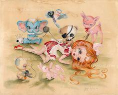 A Few more Stitches by SimonaCandiniArt