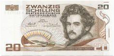 Austria - Best of Banknotes Austria, Gold Money, Europe, World Coins, Vintage Girls, Continents, Vienna, Childhood Memories, Vintage World Maps