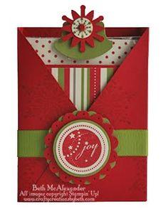 Card Creations by Beth: Christmas Criss Cross Box