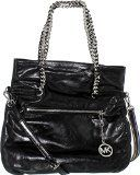 Women's Shoulder Bags - Michael Kors Lacey Large Black Leather FoldOver Tote ** Find out more about the great product at the image link.