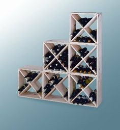Compact Cellar Cubes by Midwest Homebrewing and Winemaking Supplies. $54.99. These compact cellar cubes are affordable, sturdy, stackable and expandable. Each compartment holds six bottles and four compartments equal two cases of wine. Assembly is easy with just eight screws. 24 bottle capacity.